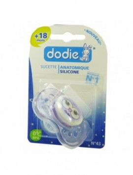 DODIE SUCETTE ANATOMIQUE SILICONE +18 MOIS N?43