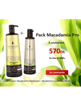 Macadamia Pack : Shampoing Pro 1L et Conditionner 500 ml Offert